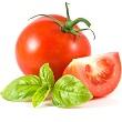 Basil tomato frittata