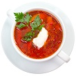 Beet and cabbage borscht
