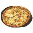 Kale and mushroom pizza