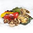Zucchini tomato basil salad